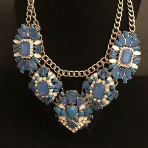 Jewelry - Large blue Statement Necklace Party Wedding Formal
